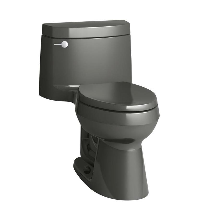 KOHLER Cimarron Thunder Gray 1.28-GPF (4.85-LPF) 12 Rough-In WaterSense Elongated 1-Piece Chair Height Rear Outlet Toilet