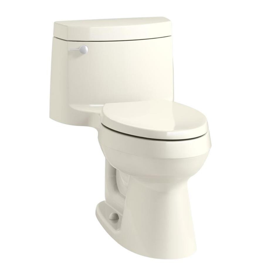 KOHLER Cimarron Ice Gray 1.28-GPF (4.85-LPF) 12 Rough-In WaterSense Elongated 1-Piece Chair Height Rear Outlet Toilet