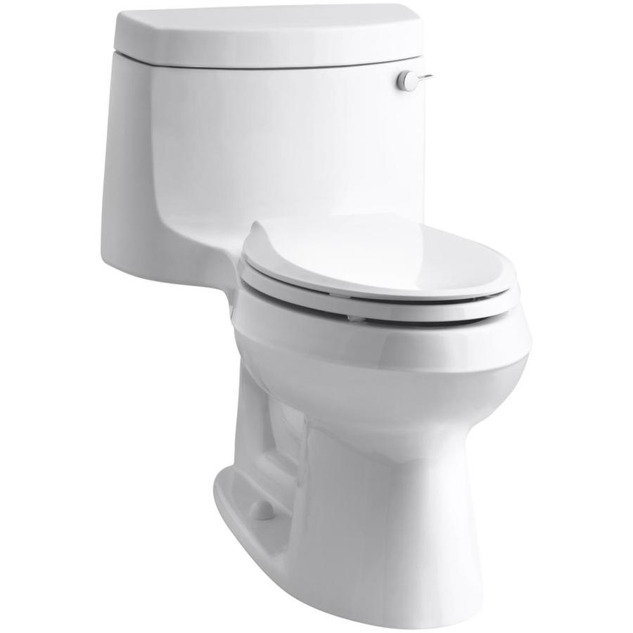 KOHLER Cimarron White 1.28-GPF (4.85-LPF) 12 Rough-In WaterSense Elongated 1-Piece Chair Height Toilet