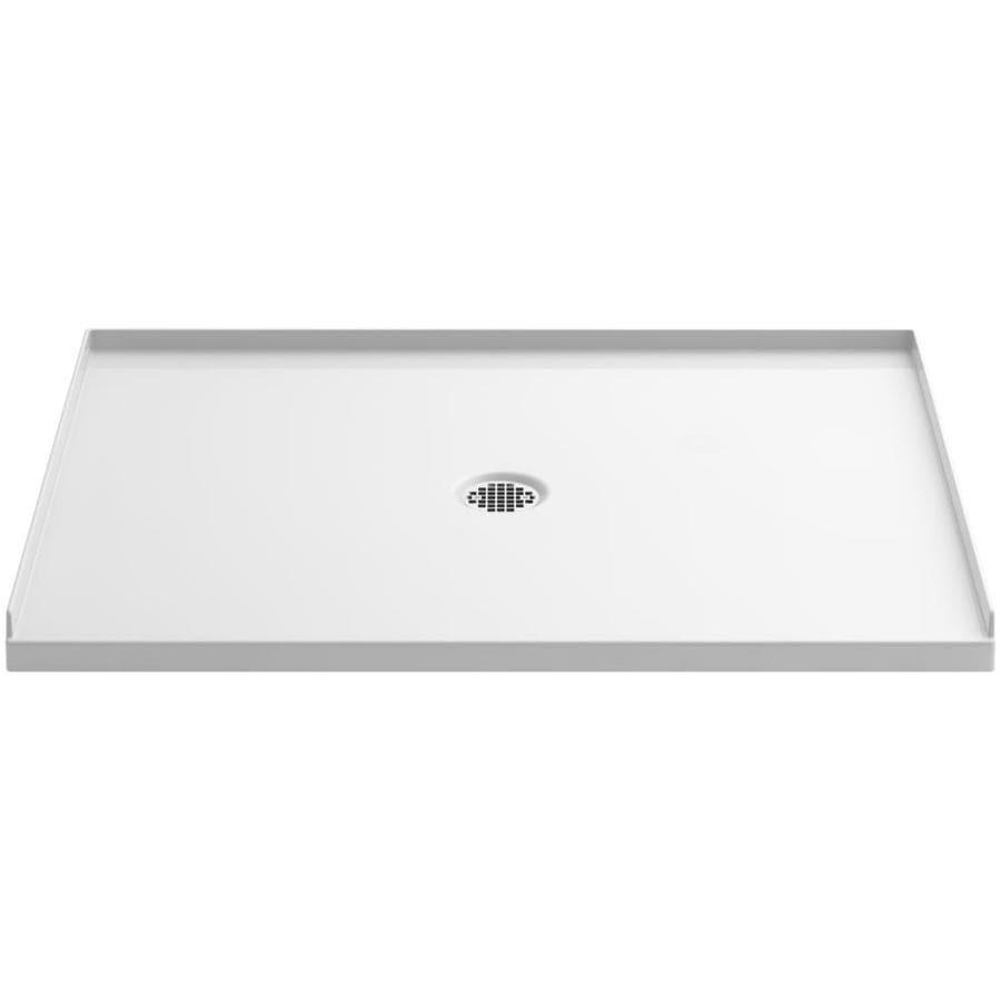 KOHLER Ballast White Acrylic Shower Base (Common: 36-in W x 48-in L; Actual: 36-in W x 48-in L)
