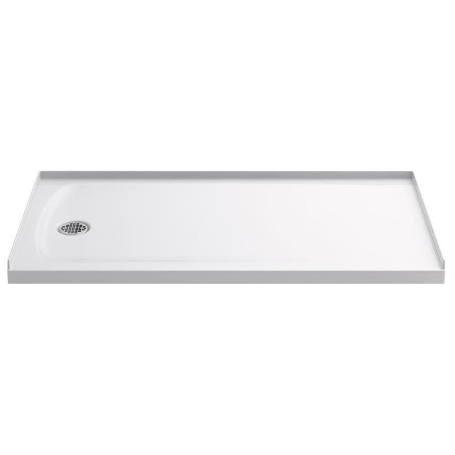 KOHLER Ballast White Acrylic Shower Base (Common: 32-in W x 60-in L; Actual: 32-in W x 60-in L)
