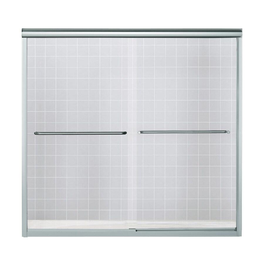 Sterling Finesse 59.625-in W x 58.0625-in H Frameless Bathtub Door