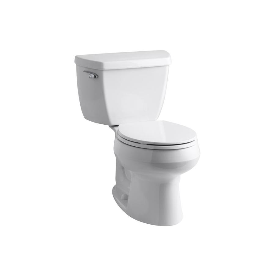 Wellworth White 1.28 Gpf (4.85 Lpf) 12-in Rough-in WaterSense Round 2-Piece Standard Height Toilet Product Photo