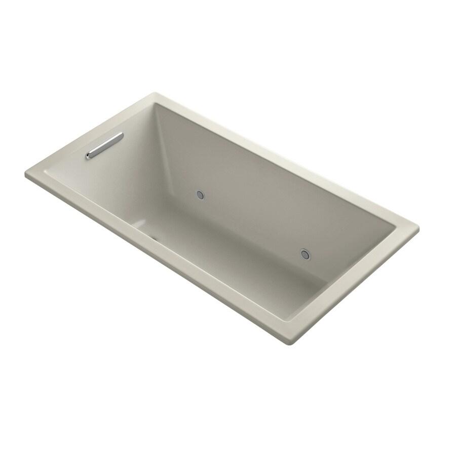 KOHLER Underscore Sandbar Acrylic Rectangular Drop-in Bathtub with Reversible Drain (Common: 32-in x 60-in; Actual: 21-in x 32-in x 60-in)