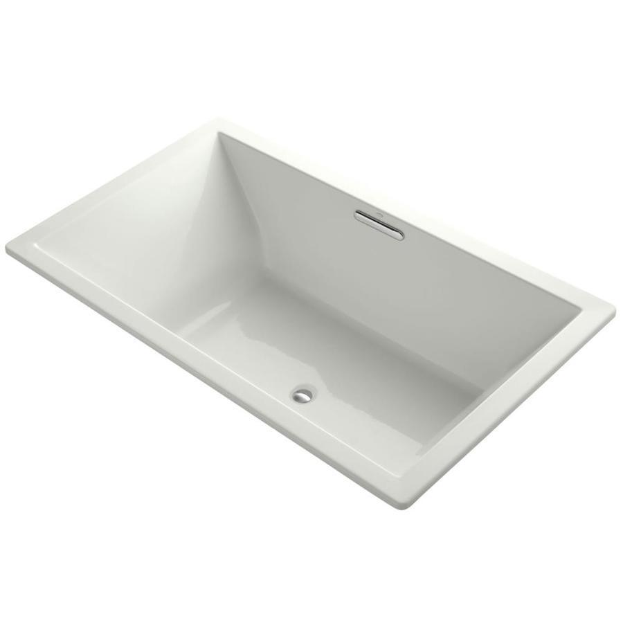 KOHLER Underscore Dune Acrylic Rectangular Drop-in Bathtub with Center Drain (Common: 42-in x 72-in; Actual: 23-in x 42-in x 72-in)