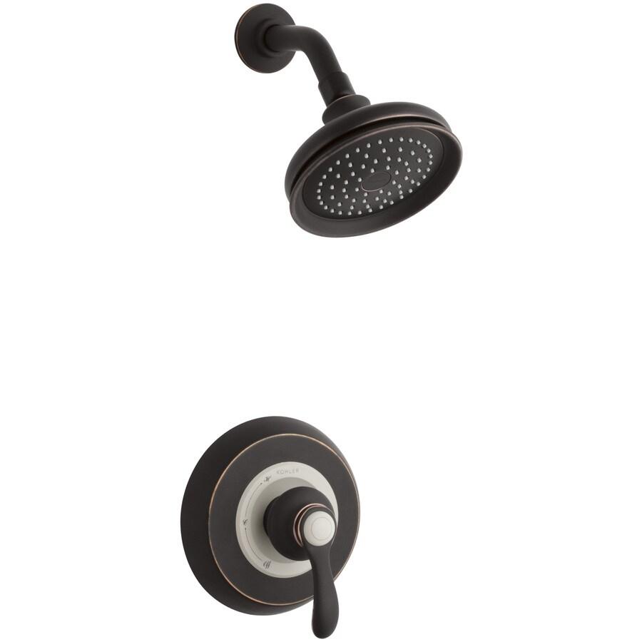 KOHLER Fairfax Oil-Rubbed Bronze 1-Handle Shower Faucet Trim Kit with Single Function Showerhead