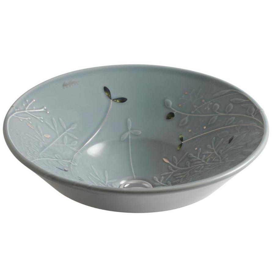 KOHLER Conical Bell Platinum Vessel Round Bathroom Sink