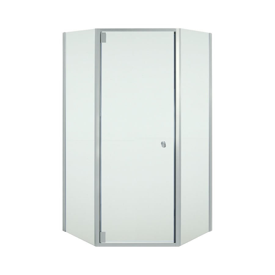 Sterling Solitaire 36.125-in W x 72-in H Silver Neo-Angle Shower Door