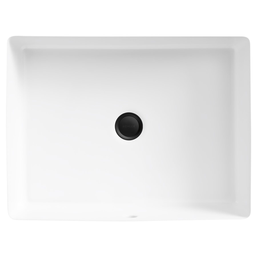 Verticyl White Rectangular Bathroom Sink with Overflow Product Photo