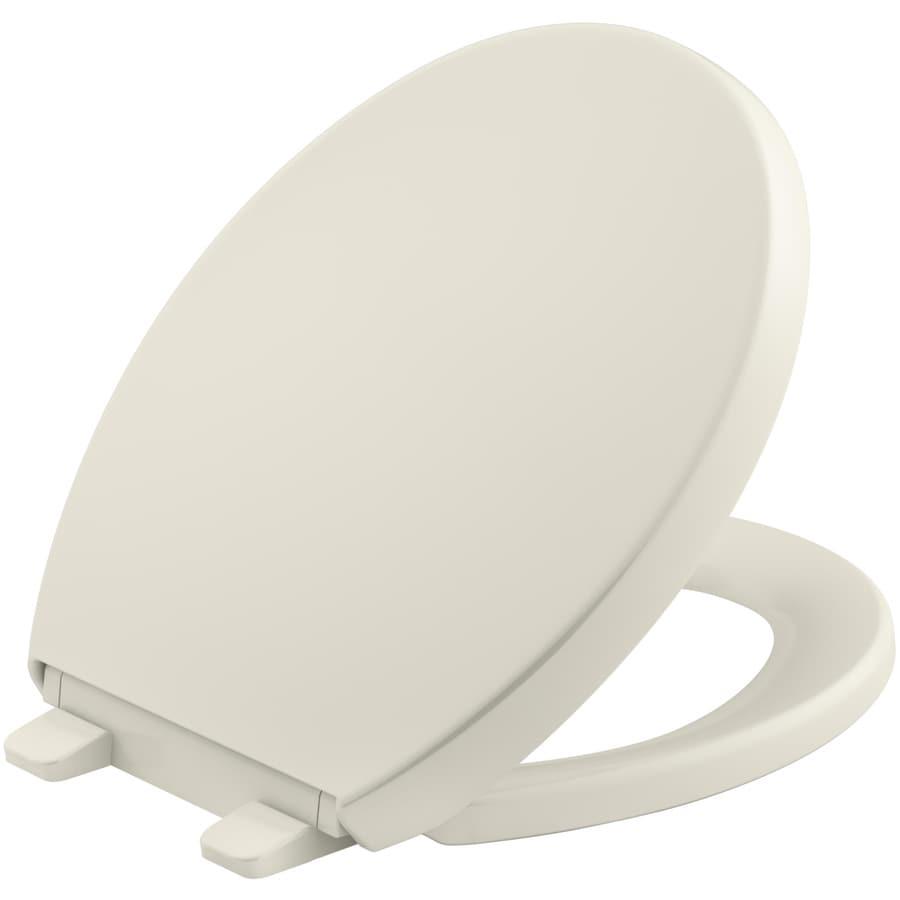 KOHLER Reveal Biscuit Plastic Round Toilet Seat