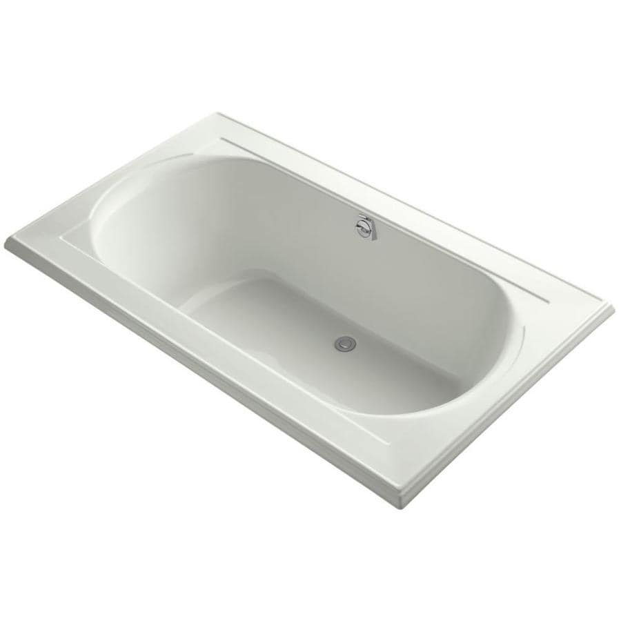 KOHLER Memoirs Dune Acrylic Oval In Rectangle Drop-in Bathtub with Reversible Drain (Common: 42-in x 72-in; Actual: 22-in x 42-in x 72-in)