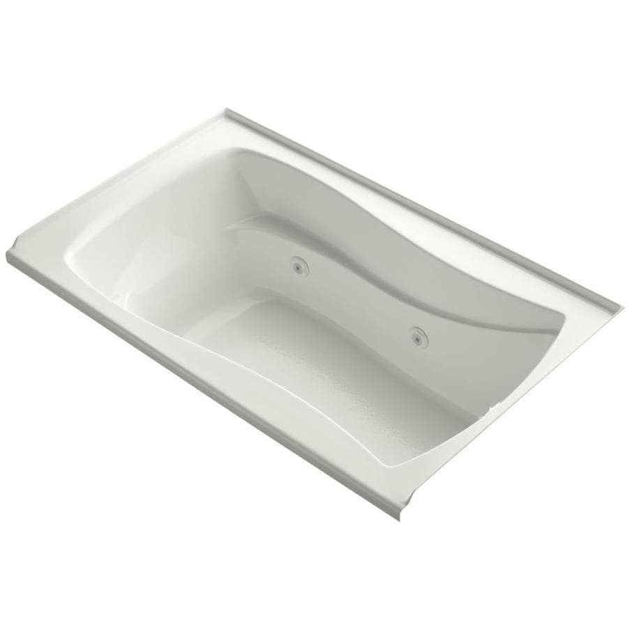 KOHLER Mariposa Dune Acrylic Hourglass In Rectangle Alcove Whirlpool Tub (Common: 36-in x 60-in; Actual: 21.25-in x 36-in)