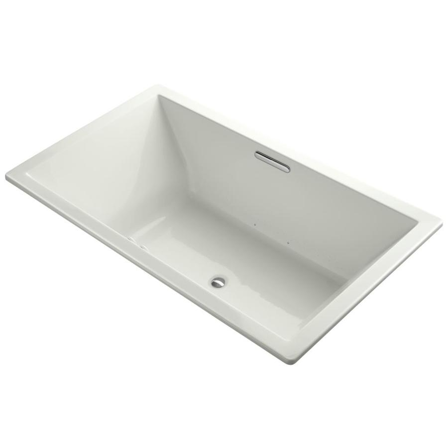 KOHLER Underscore 72-in L x 42-in W x 23-in H Dune Acrylic Rectangular Drop-in Air Bath