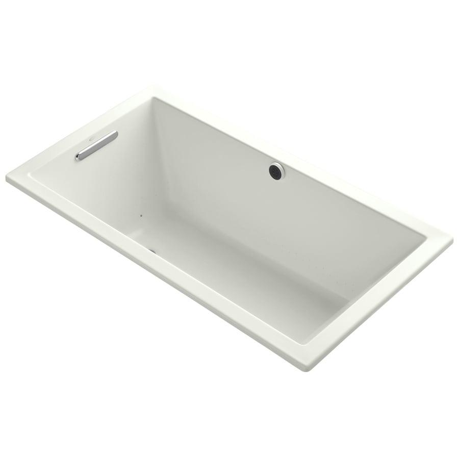 KOHLER Underscore 60-in L x 32-in W x 21-in H Dune Acrylic Rectangular Drop-in Air Bath