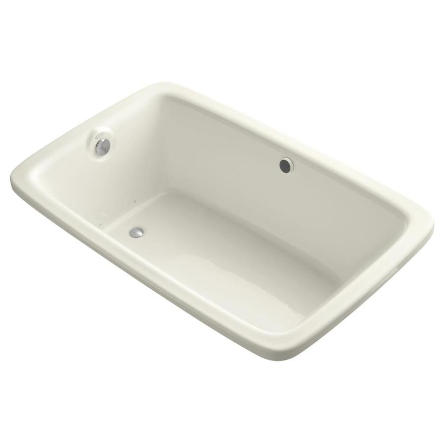 KOHLER Bancroft 66-in L x 42-in W x 22-in H Biscuit Acrylic Rectangular Drop-in Air Bath