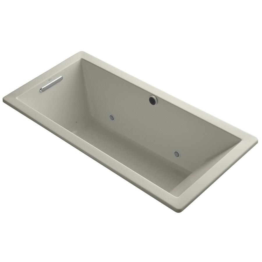KOHLER Underscore 66-in L x 32-in W x 22-in H Sandbar Acrylic Rectangular Drop-in Air Bath