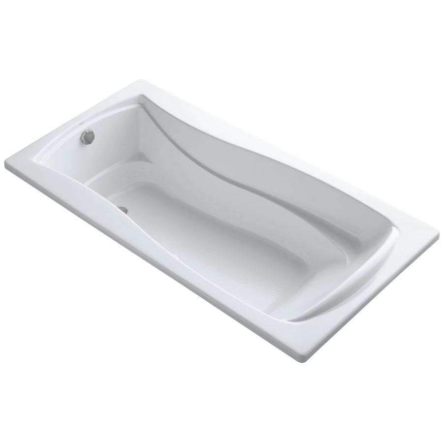 KOHLER Mariposa 72-in L x 36-in W x 20-in H White Acrylic Hourglass In Rectangle Drop-in Air Bath