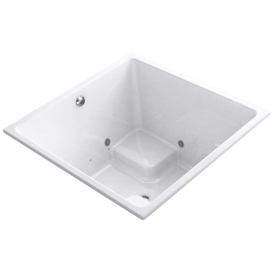KOHLER Underscore 48-in L x 48-in W x 34-in H White Acrylic Corner Drop-in Air Bath