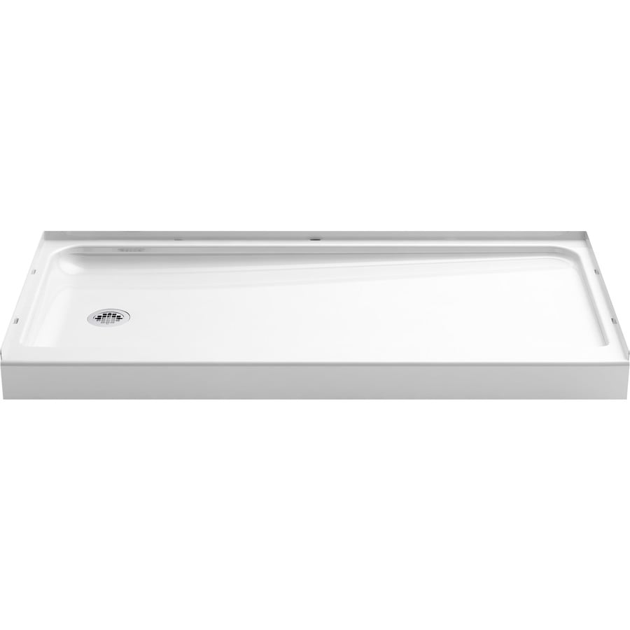 Ensemble White Vikrell Shower Base (Common: 30-in W x 60-in L; Actual: 30-in W x 60-in L) Product Photo