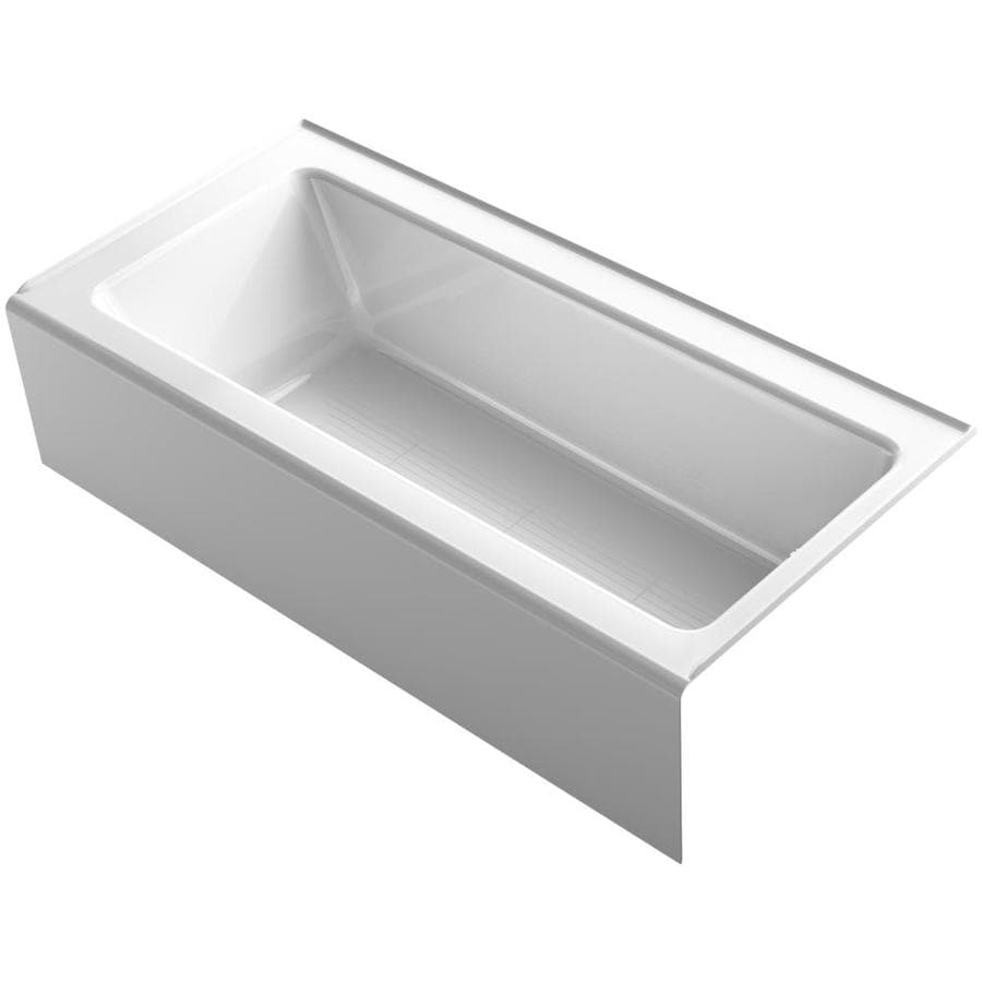 KOHLER Bellwether White Acrylic Rectangular Alcove Bathtub with Reversible Drain (Common: 32-in x 66-in; Actual: 17-in x 32-in x 66-in)