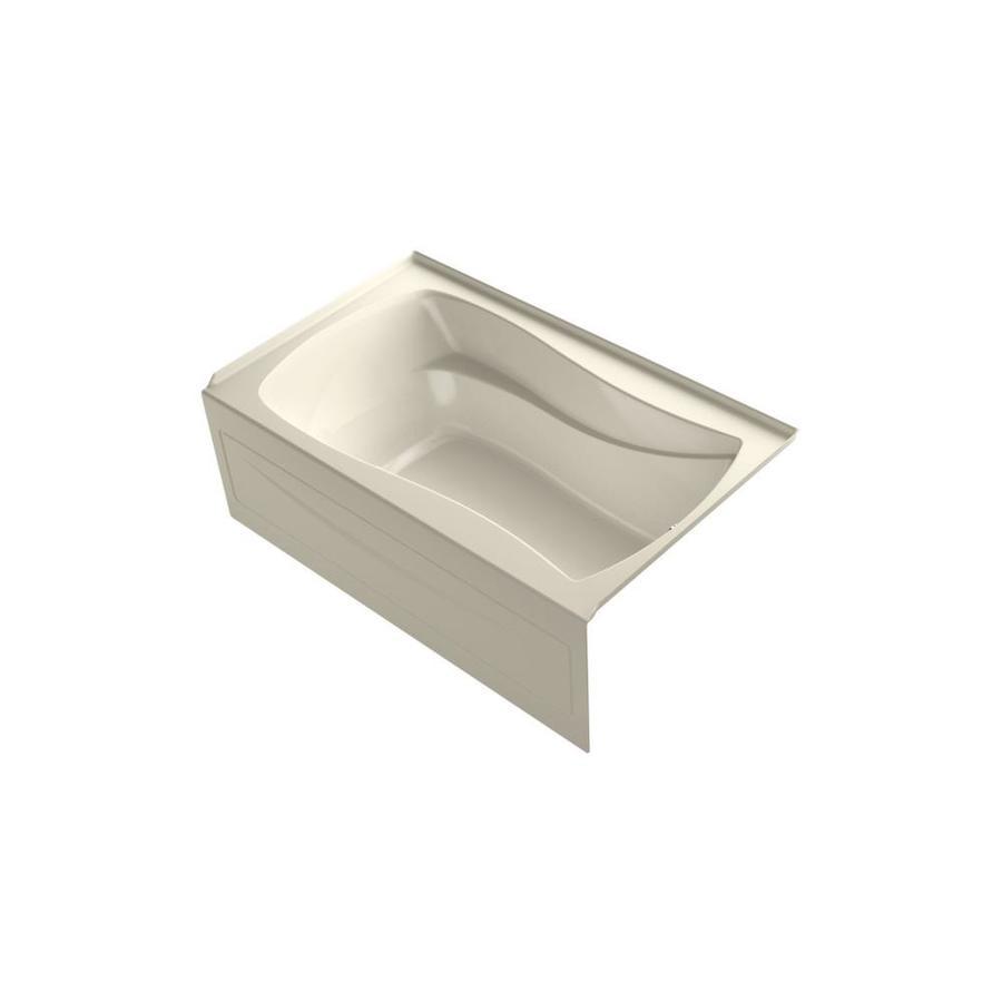 KOHLER Mariposa 60-in L x 36-in W x 20-in H Almond Acrylic Hourglass In Rectangle Freestanding Air Bath