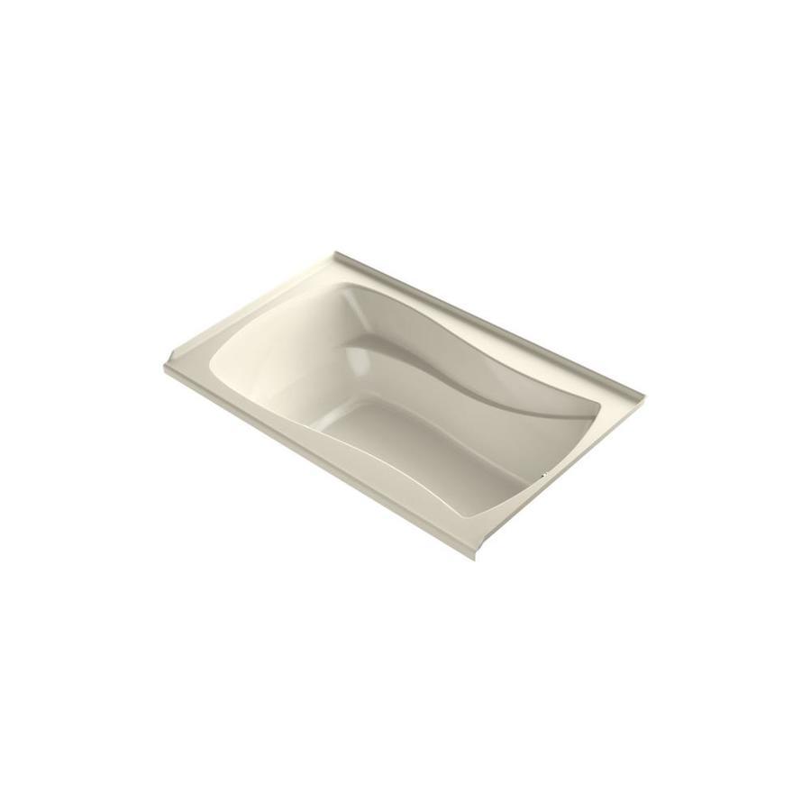 KOHLER Mariposa 60-in L x 35.875-in W x 20.25-in H Almond Acrylic Hourglass In Rectangle Freestanding Air Bath
