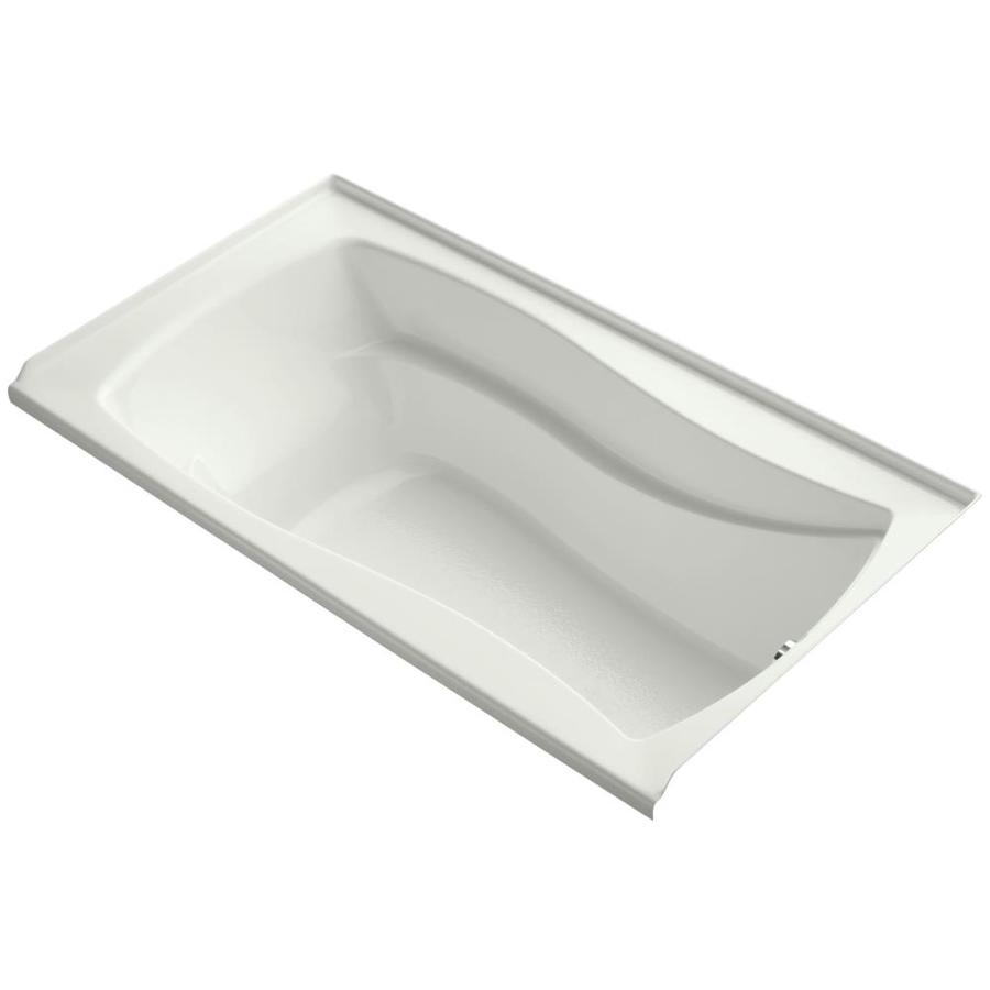 KOHLER Mariposa Dune Acrylic Rectangular Alcove Bathtub with Right-Hand Drain (Common: 36-in x 66-in; Actual: 21.25-in x 35.875-in x 66-in)