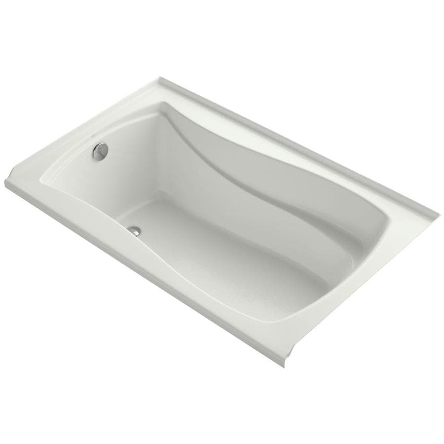 KOHLER Mariposa Dune Acrylic Hourglass In Rectangle Alcove Bathtub with Left-Hand Drain (Common: 36-in x 60-in; Actual: 21.25-in x 36-in x 60-in)