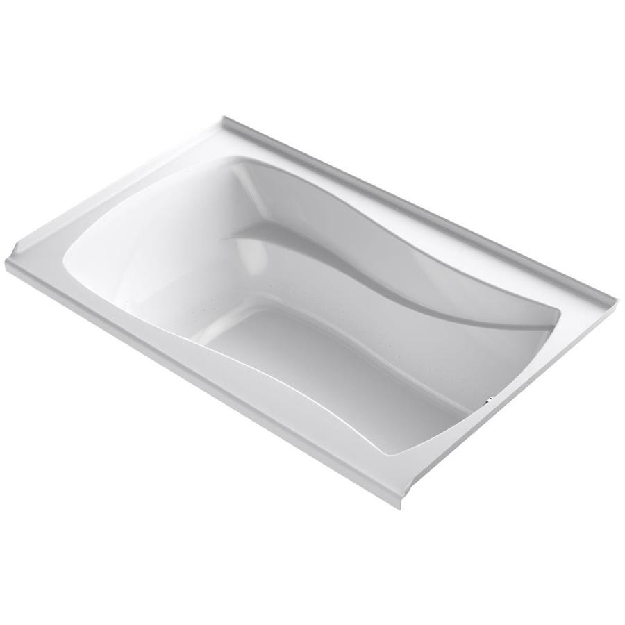 KOHLER Mariposa White Acrylic Hourglass In Rectangle Alcove Bathtub with Right-Hand Drain (Common: 36-in x 60-in; Actual: 21.25-in x 36-in x 60-in)