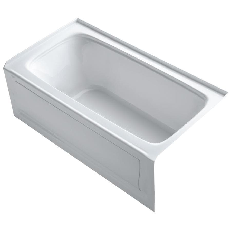 KOHLER Bancroft Sandbar Acrylic Rectangular Alcove Bathtub with Right-Hand Drain (Common: 32-in x 60-in; Actual: 20.25-in x 32-in x 60-in)