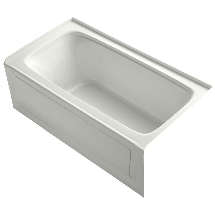 KOHLER Bancroft Dune Acrylic Rectangular Alcove Bathtub with Right-Hand Drain (Common: 32-in x 60-in; Actual: 20.25-in x 32-in x 60-in)