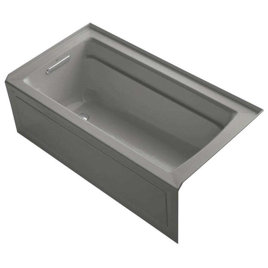 KOHLER Archer 60-in L x 32-in W x 20.25-in H Almond Acrylic Rectangular Alcove Air Bath