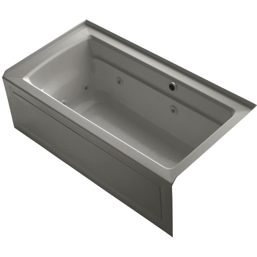 KOHLER Archer Cashmere Acrylic Rectangular Alcove Whirlpool Tub (Common: 32-in x 60-in; Actual: 21.25-in x 32-in)