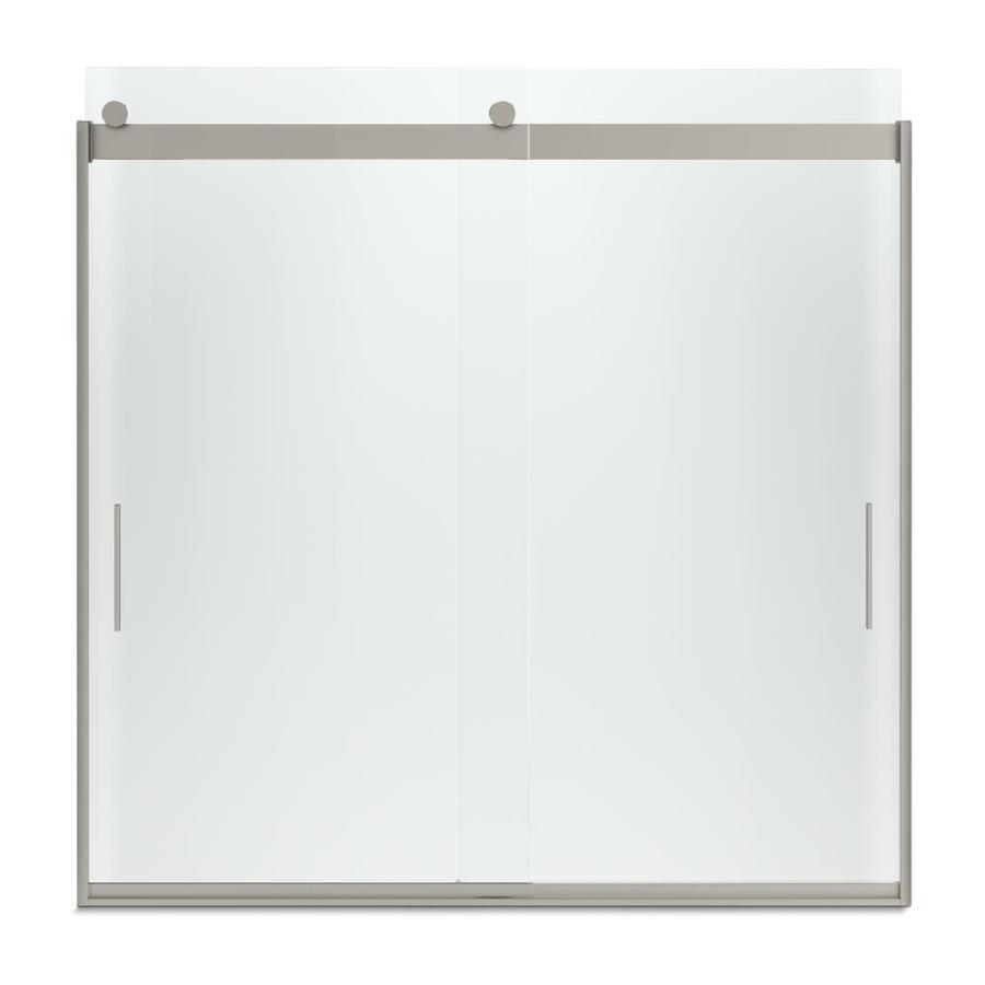 KOHLER Levity 57-in W x 59.75-in H Frameless Bathtub Door