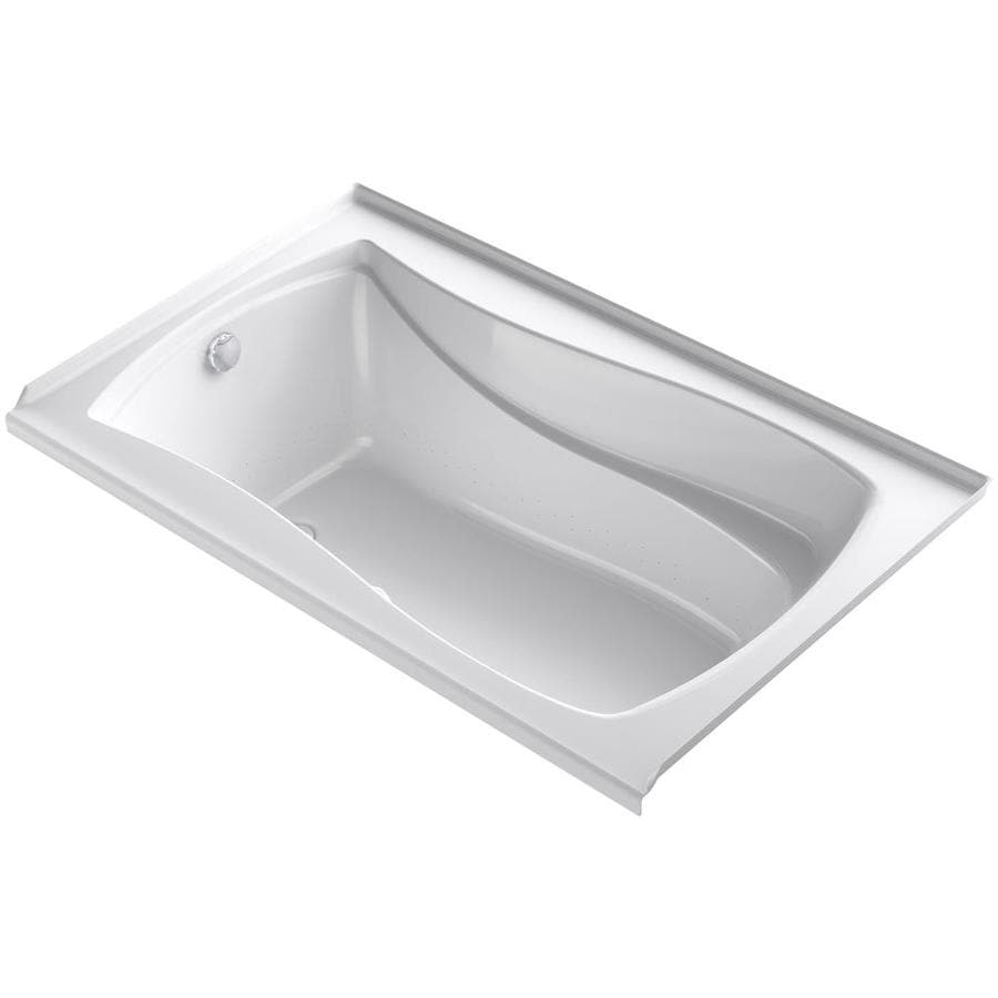 KOHLER Mariposa 60-in L x 36-in W x 21.25-in H White Acrylic Hourglass In Rectangle Alcove Air Bath