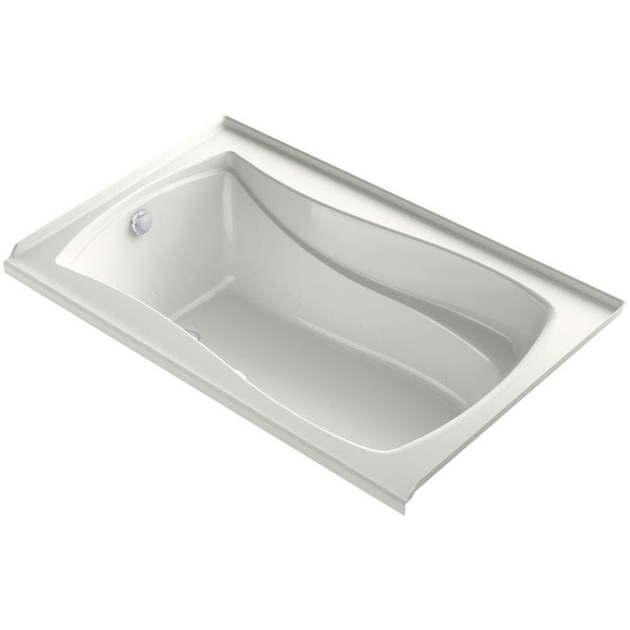 KOHLER Mariposa 60-in L x 36-in W x 21.25-in H Dune Acrylic Hourglass In Rectangle Drop-in Air Bath