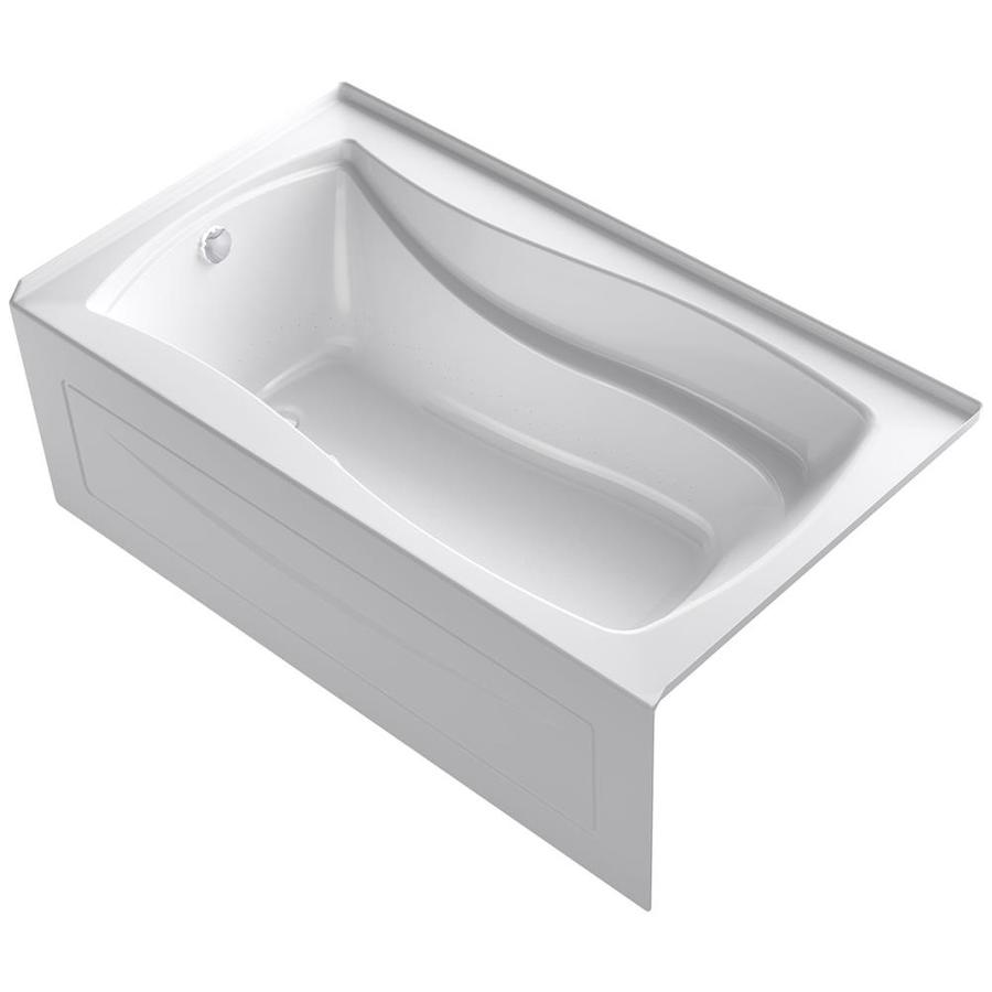 KOHLER Mariposa 66-in L x 36-in W x 21.25-in H White Acrylic Rectangular Drop-in Air Bath