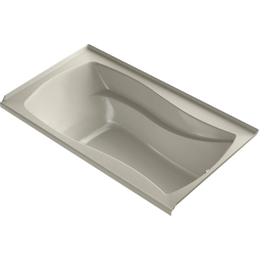 KOHLER Mariposa 66-in L x 36-in W x 21.25-in H Sandbar Acrylic Rectangular Alcove Air Bath