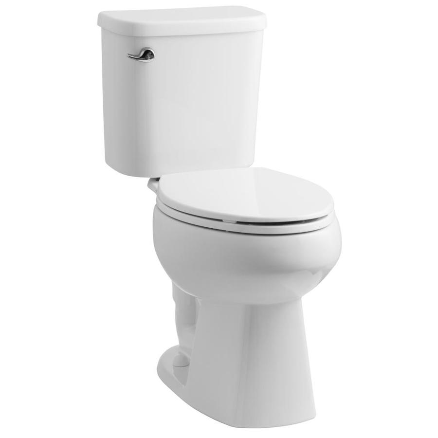 Sterling Windham White 1.28-GPF (4.85-LPF) 12 Rough-In WaterSense Elongated 2-Piece Chair Height Toilet