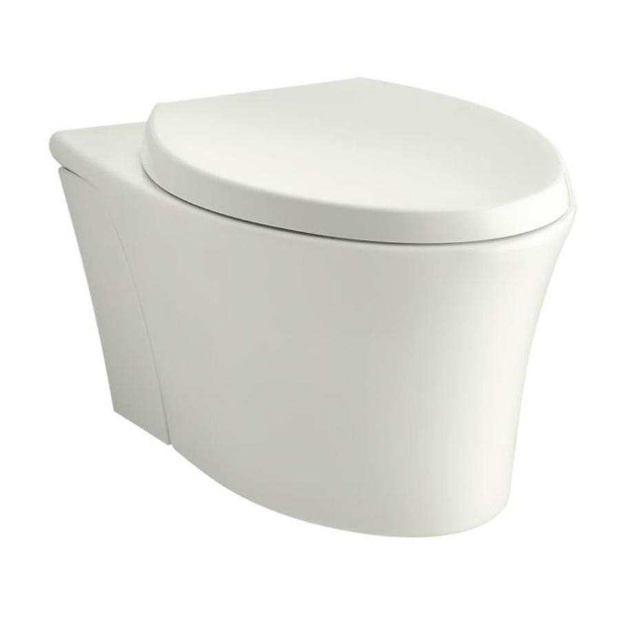 KOHLER Veil Standard Height Dune Wall-Hung Rough-in Elongated Toilet Bowl
