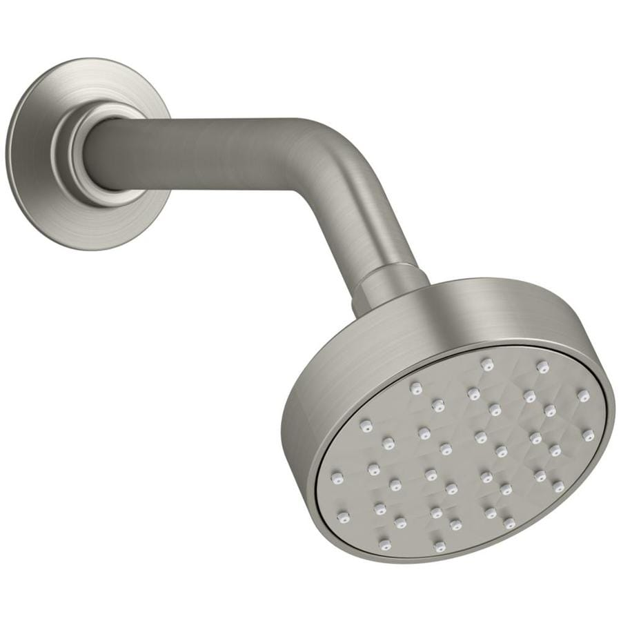 KOHLER Awaken 3.5625-in 1.5-GPM (5.7-LPM) Vibrant Brushed Nickel 1-Spray WaterSense Showerhead
