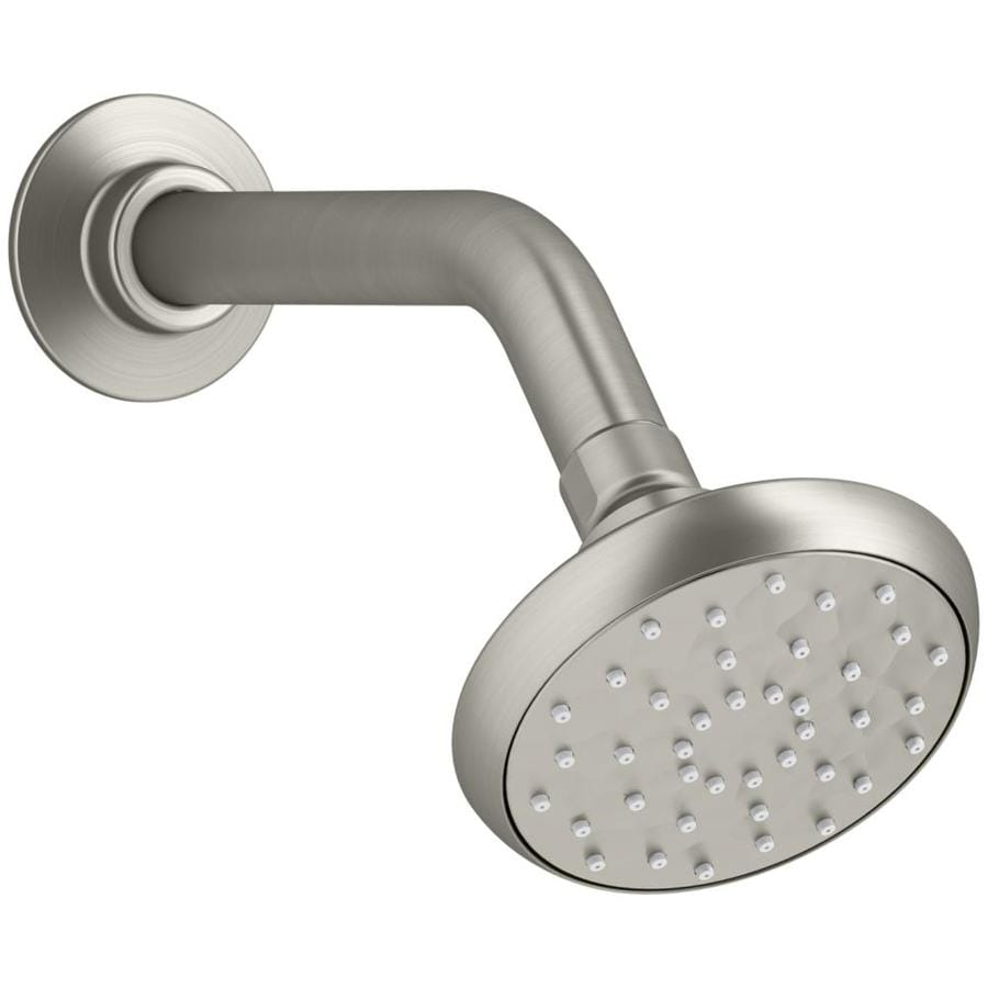 KOHLER Awaken 3.75-in 1.5-GPM (5.7-LPM) Vibrant Brushed Nickel 1-Spray WaterSense Showerhead