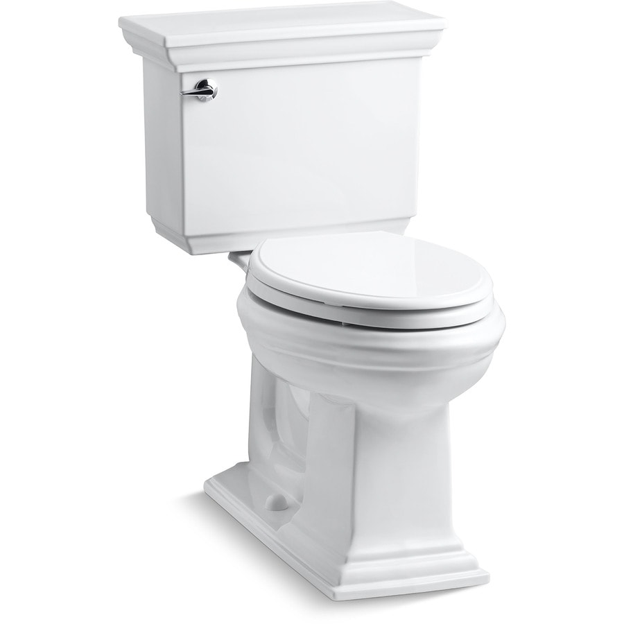 Memoirs White 1.28 Gpf (4.85 Lpf) 12-in Rough-in WaterSense Elongated 2-Piece Comfort Height Toilet Product Photo