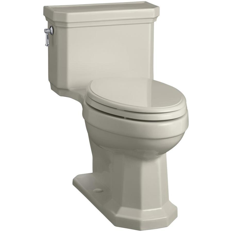 KOHLER Kathryn Sandbar 1.28-GPF (4.85-LPF) 12 Rough-In WaterSense Elongated 1-Piece Chair Height Toilet