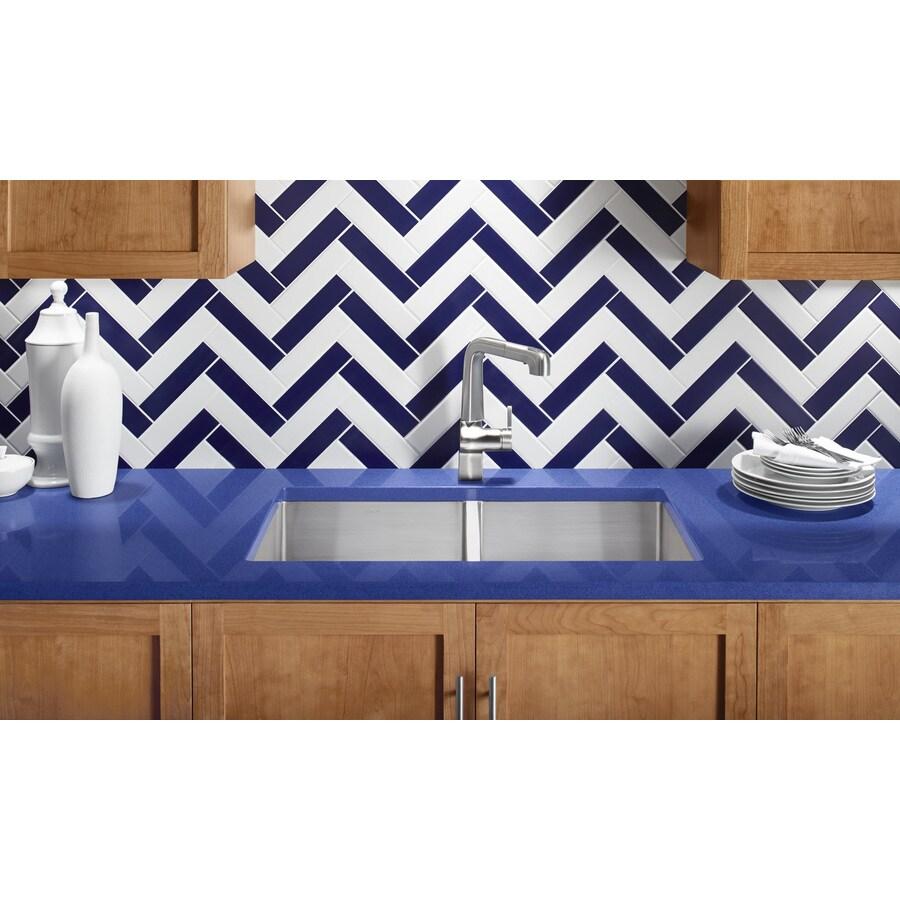 KOHLER Strive 18.25-in x 32-in Stainless Steel Double-Basin Undermount Residential Kitchen Sink