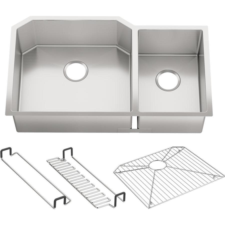 Kohler Undermount Kitchen Sinks Lowes: Shop KOHLER Strive 20.25-in X 35.5-in Stainless Steel