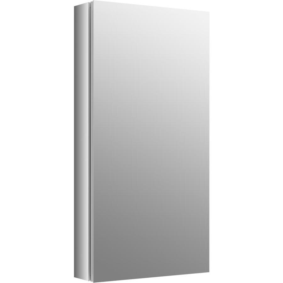 KOHLER Verdera 15-in x 30-in Rectangle Surface/Recessed Mirrored Aluminum Medicine Cabinet