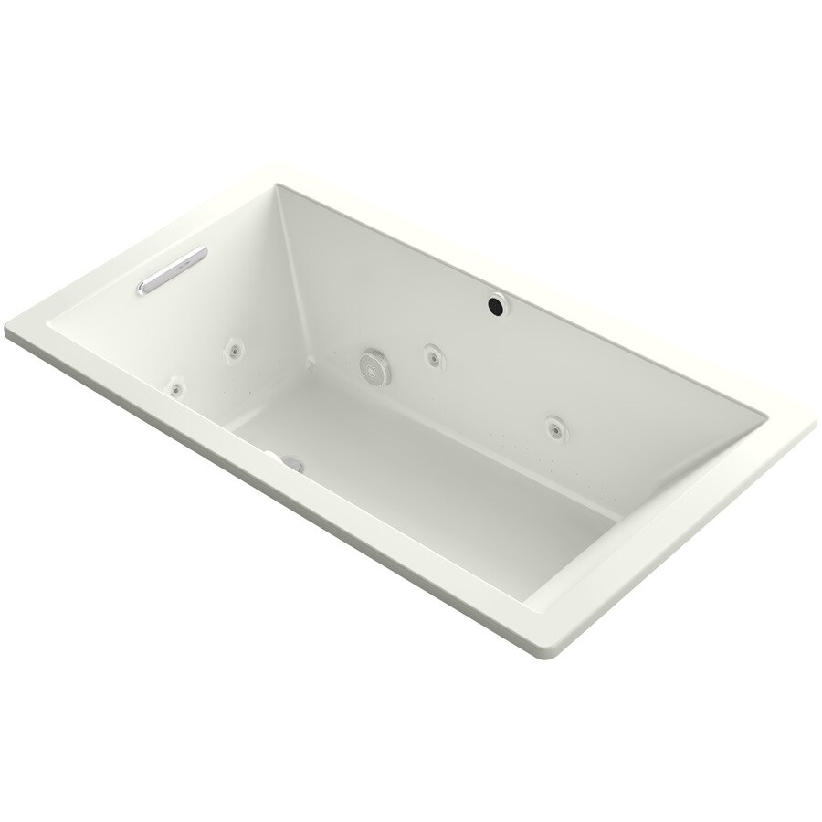 KOHLER Underscore 66-in L x 36-in W x 22-in H Dune Acrylic Rectangular Drop-in Air Bath