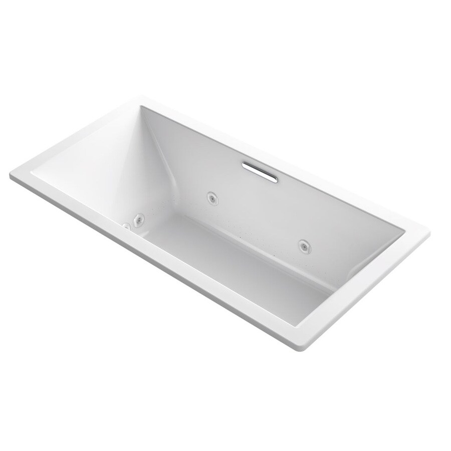 KOHLER Underscore 72-in L x 36-in W x 23-in H White Acrylic Rectangular Drop-in Air Bath