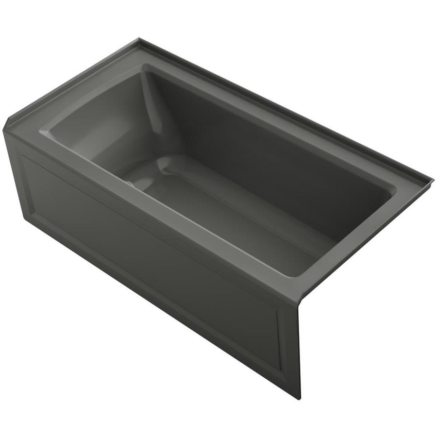 KOHLER Underscore 60-in L x 30-in W x 19-in H Thunder Grey Acrylic Rectangular Drop-in Air Bath